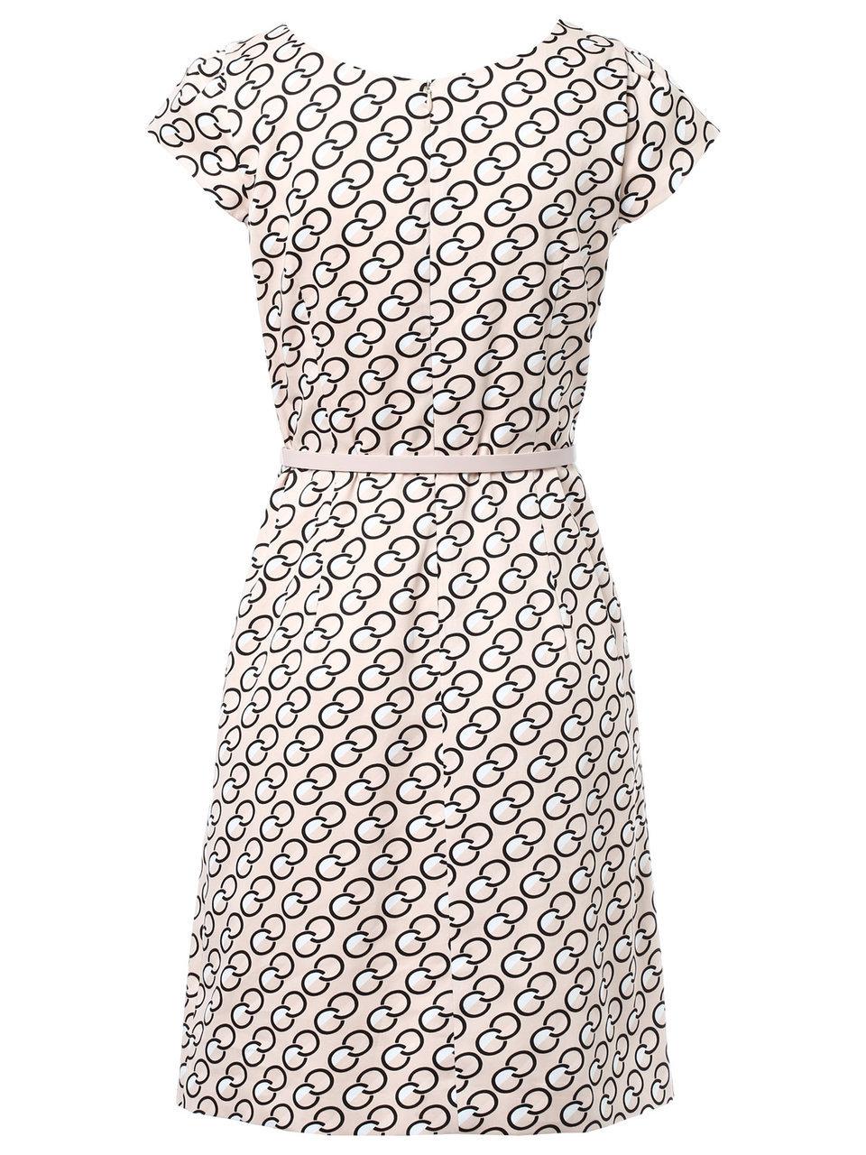 comma - kleid mit kettenprint und gürtel